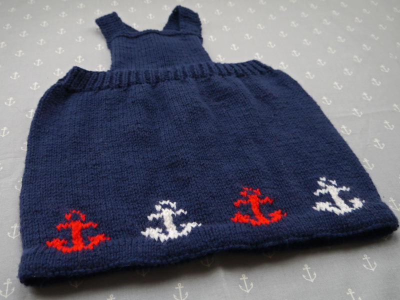 Front of Baby Sailor Pinafore Dress