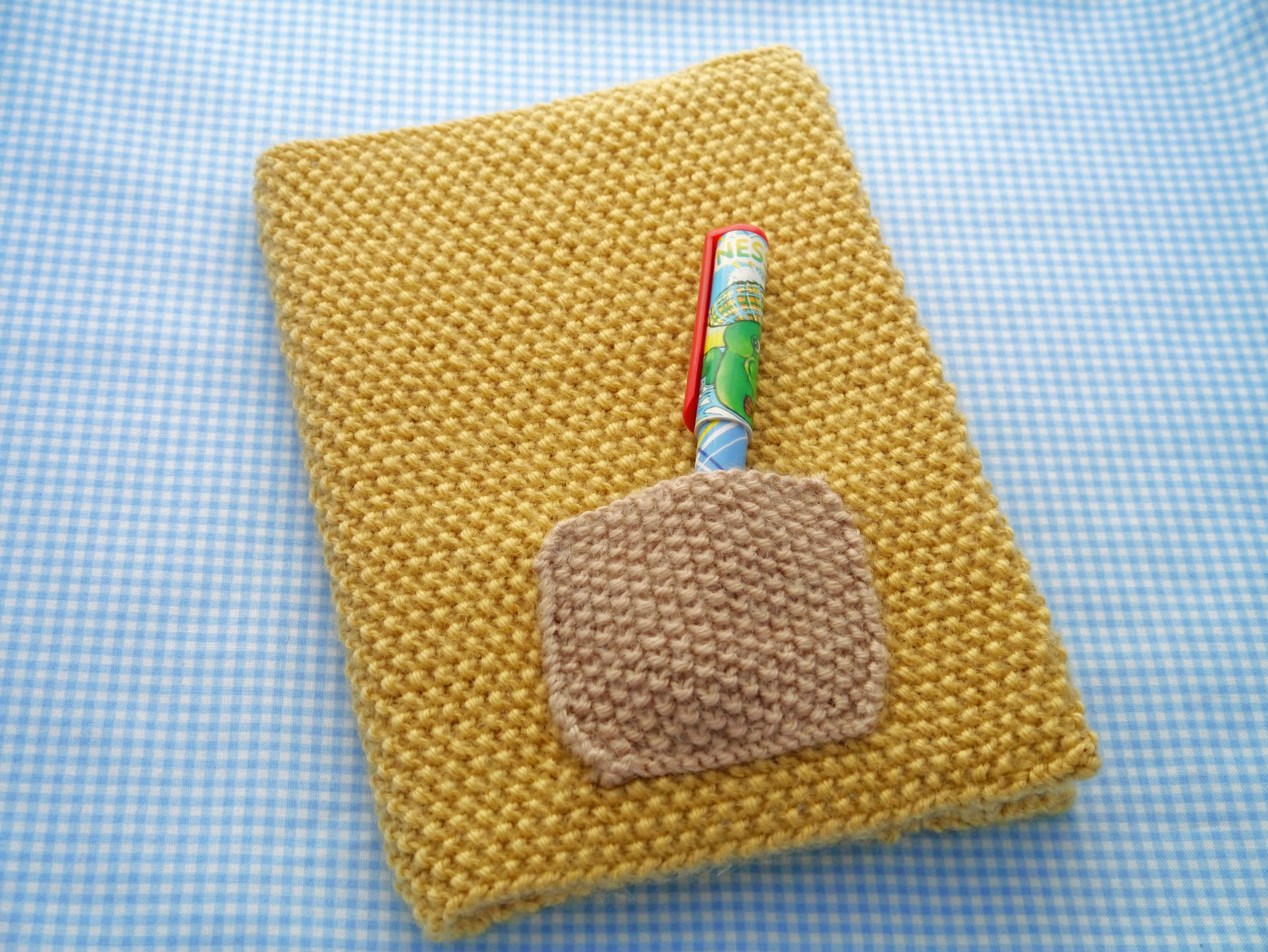 How To Make A Knitted Book Cover ~ A book cover u julie the knits