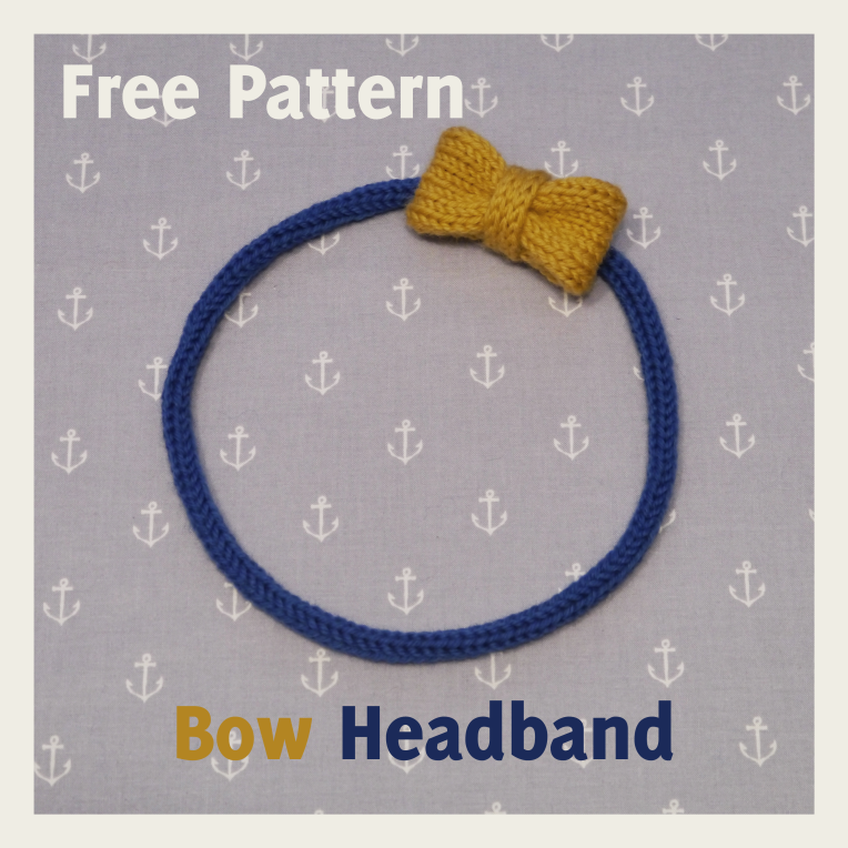 Knitted Bow Headband Pattern