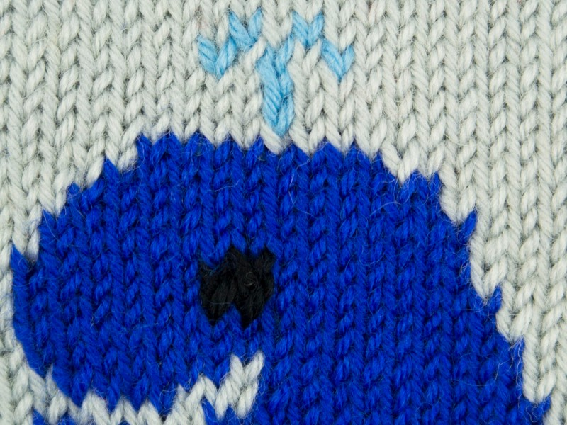 Whale square knitting pattern