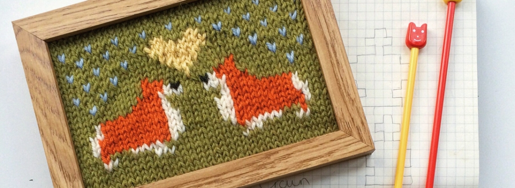 Corgi Love Knitted Picture